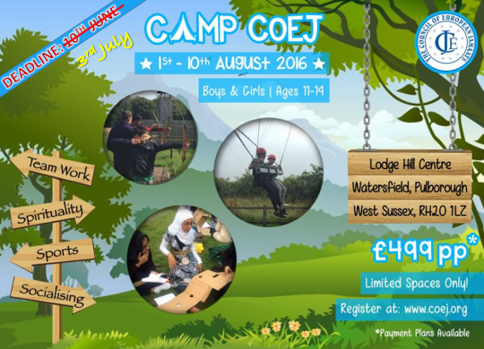 CAMP COEJ 3RD JUNE