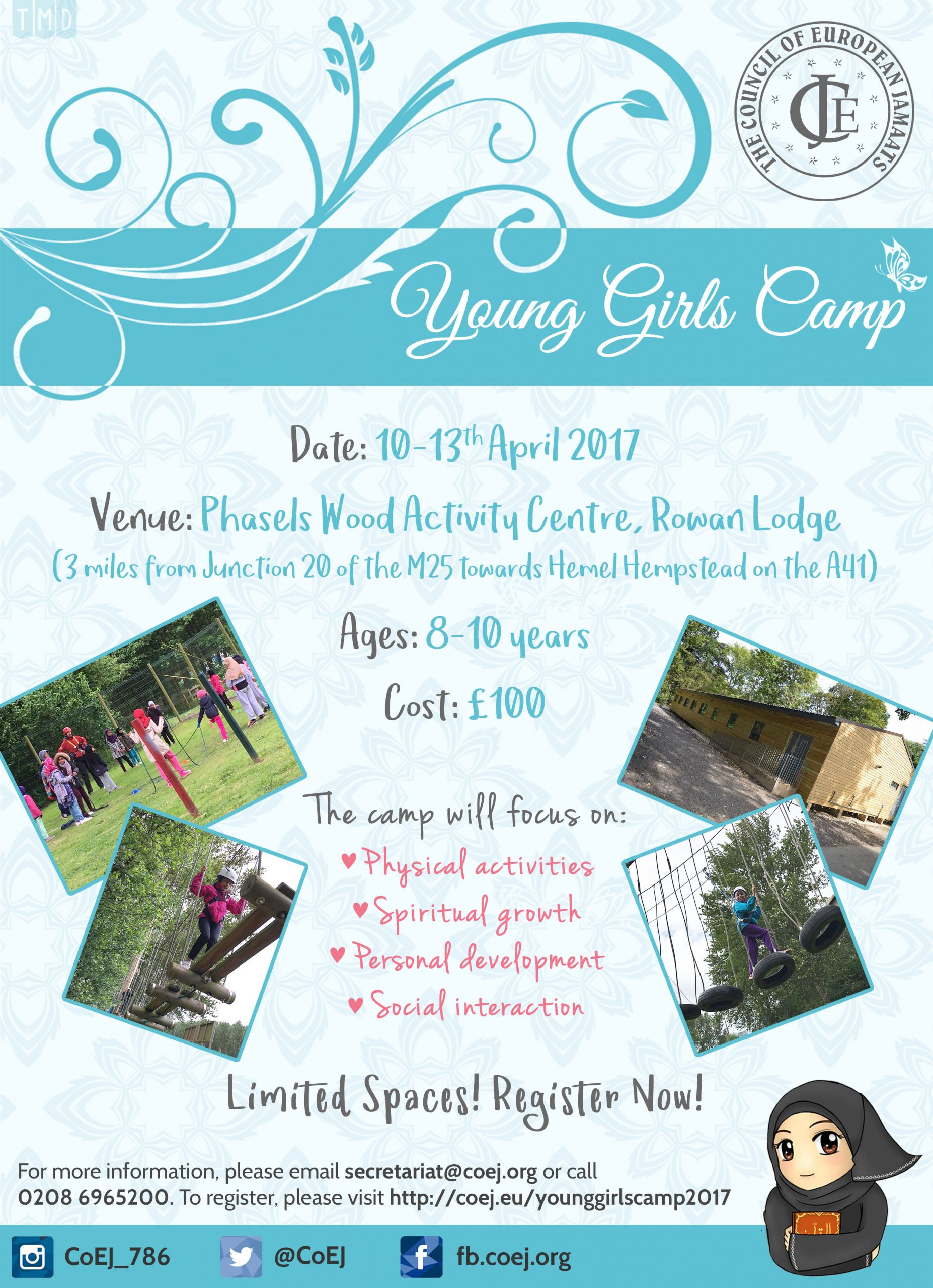2017_03_10-CoEJ-Young Girls Camp Poster