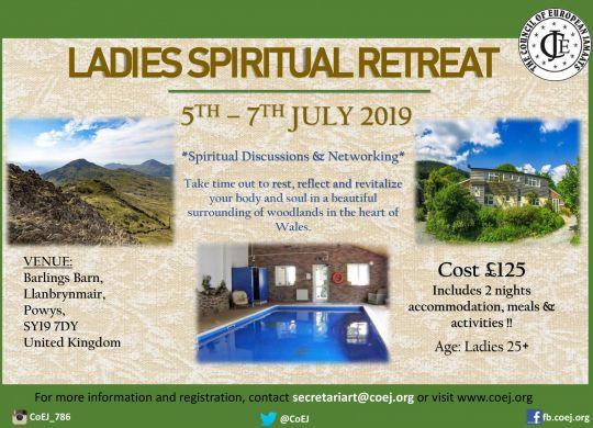 CoEJ Womens Retreat 2019