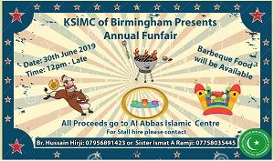 KSIMC of Birmingham Annual BBQ Invite 2019